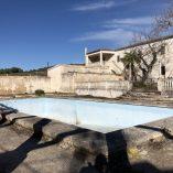 Masía en venta Bocairente - piscina y terraza